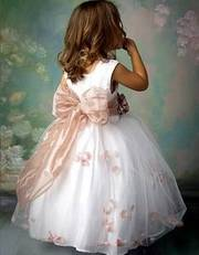 Custom-made flower girl dresses