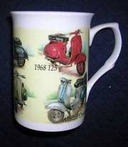 Vespa Scooters Mug - Superb Assorted Vintage Vespas