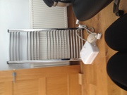 Stainless Steel Central heating Radiator  and White Shower